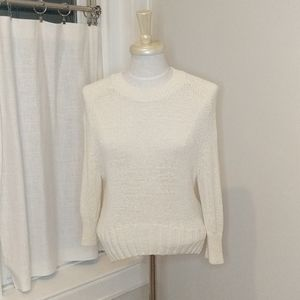 Gap Cream Knit Crew Neck Crop Sweater XS